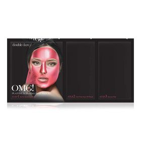 Double Dare - OMG Platinum Hot Pink Facial Mask Kit - 3 in1
