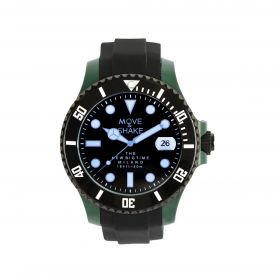 Quartz Black & Green Watch - Men