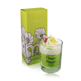 Flower Power - piped Candle
