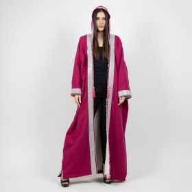 Cashmere Fuschia Hooded Coat