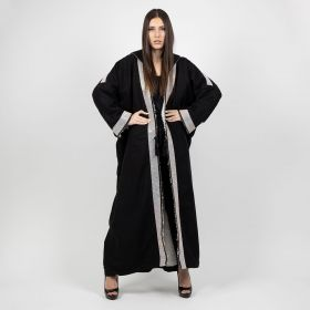 Cashmere Black Hooded Coat