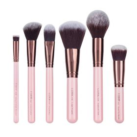 Luxie Rose Gold Face Essential Brush Set - 6 Pcs