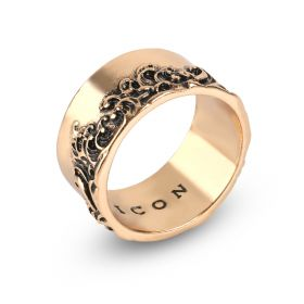 Tsunami Band Ring - Gold