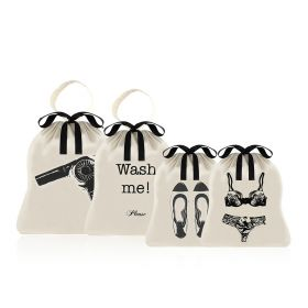 Women's Travel Multipack- 4 Bags Set - Black/White