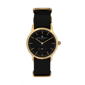 Signature Quartz Black and Gold Watch- Men