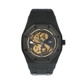 Eight - Unisex Watch - Gold Skeleton - Black
