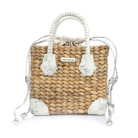 Maui Hand Bag - White Natural Curtus