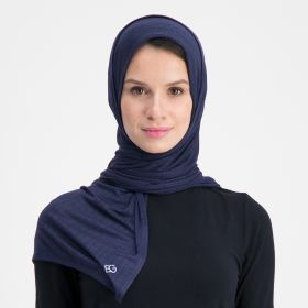 Double Stretch Cotton Scarf - Navy Blue