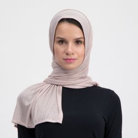 Double Stretch Cotton Scarf - Pinky Nude