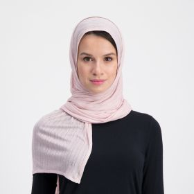 Double Stretch Cotton Scarf - Light Pink