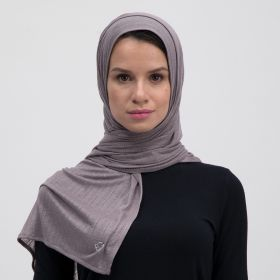 Double Stretch Cotton Scarf - Dark Sandy