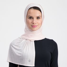Double Stretch Cotton Scarf - Light Sandy