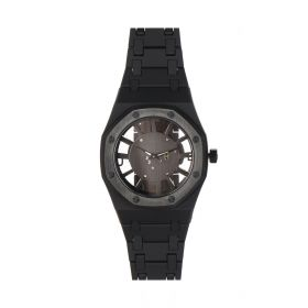The Cardinal Stainless Steel Black Watch