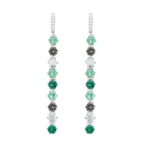 Mist Leverback Earrings - Platinum Plated