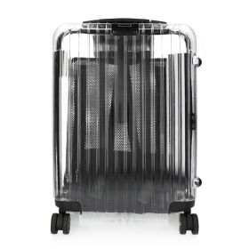 Transparent Big Trolley Bag - Black