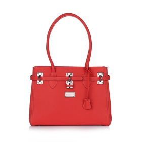Aisha Satchel Handbag - Red