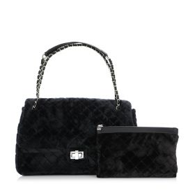 Diamond Flap Bag - Black