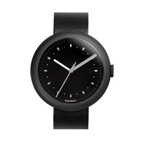 Simple Charcoal & Black Analogue Watch