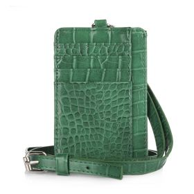 Dual Card Holder With Straps - Green