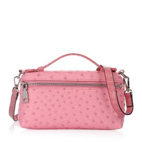Just Croco Clutch Bag - Pink