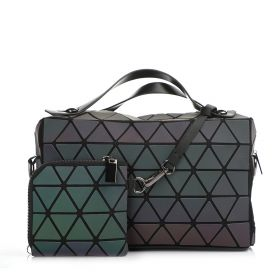 Hand Bag With Pouch - Black&Rainbow