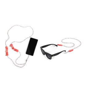 Pink Belt Sunglasses & Mobile Straps Set - Crystal/ Pink - 2 pcs