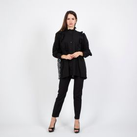 Women Black Shirt With Long Sleeves