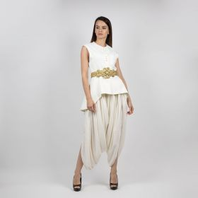 Set Of Two With Gold Belt - Off White