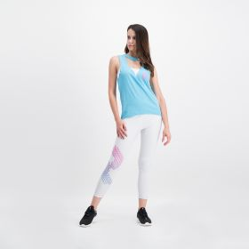 Leggings With Print Placement - White