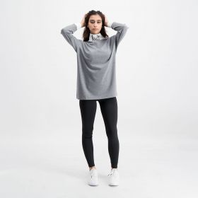 High Neck Top - Grey