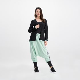 Yoga Set With Print Placement Black And Green