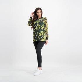 Camouflague Chiffon Jacket - Green