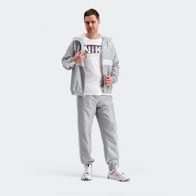 Hooded Woven Tracksuit - Grey