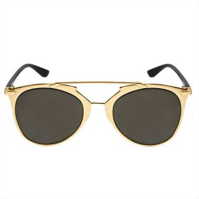 Belvoir & Co. Mirrored Black Lens / Gold Frame Sunglasses