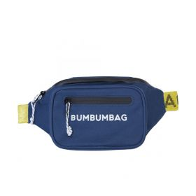 Waist Bag With Colourful Belt - Blue