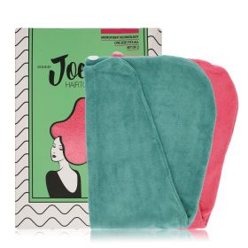 Hair Drying Towel - Pink & Green