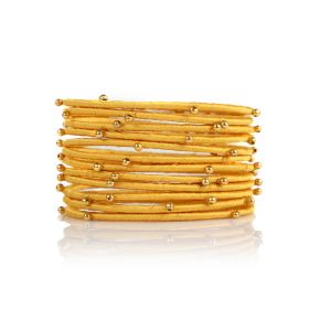 Bangles with Beads - Gold