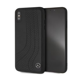 Leather Hard Case Black iPhone XS Max - Black