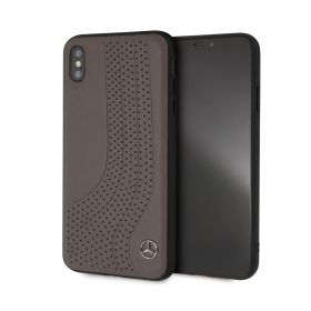 Leather Hard Case Black iPhone XS Max -Brown