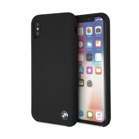 Real Microfiber Silicone iPhone X / XS Case - Black
