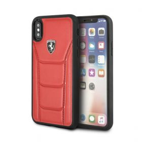 Genuine Leather Hard Case For iPhone XS Max - Red