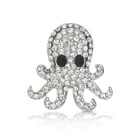 Octopus Shoelace Charm - Silver