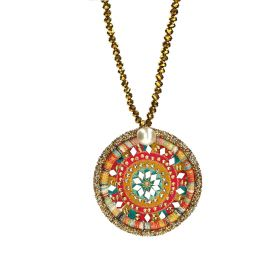 Crystal Necklace - Green & Yellow