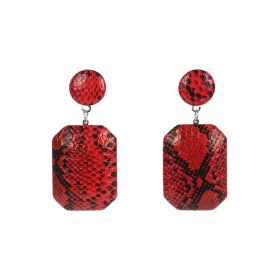 Python Style Earings - Red