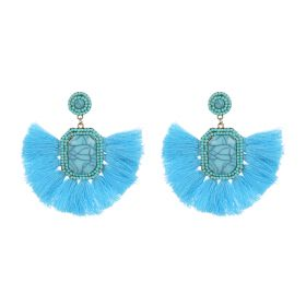 Tassel Earings - Light Blue