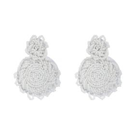Beads Earings - White