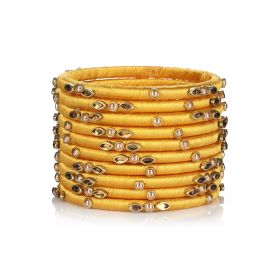 Decorated Bangles - Gold