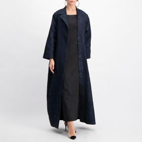 Cosmo Abaya - Black and Blue