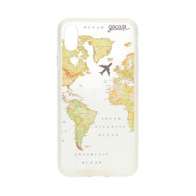 World Map Blank Transparent Case - iPhone X/XS