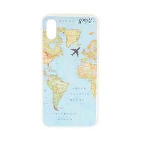 Clear Map Blue Case - iPhone X/XS